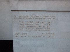 Wellcome Collection - Euston Road, London - foundation stone