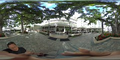 The Banyan Court of the Moana Surfrider Hotel in Waikiki  - a 360 degree Equirectangular VR
