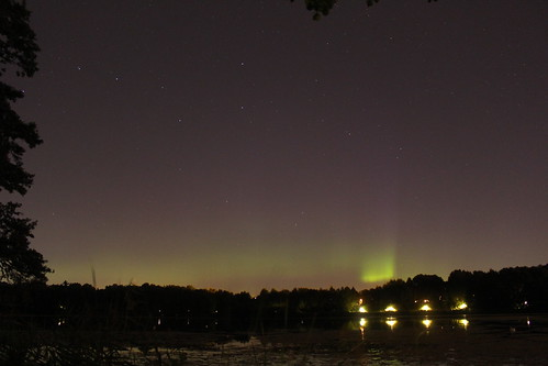 Northern lights over Stockholm, 16 aug 2015