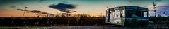 Abend Panorama Wohnwagen