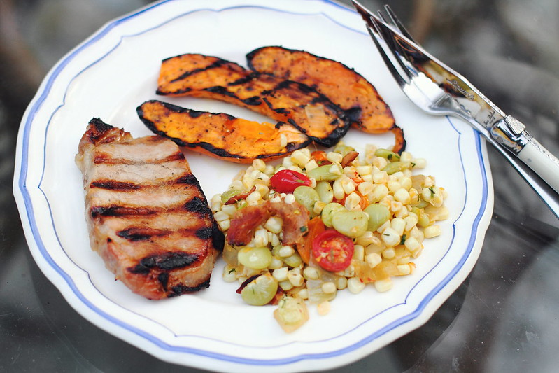 Sunday Dinner: Maple-Brined Pork Chops and Succotash