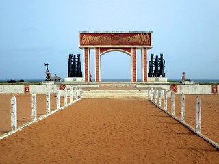 Image of Beach with a length of 52449 meters. benin slaves ouidah routedesesclaves