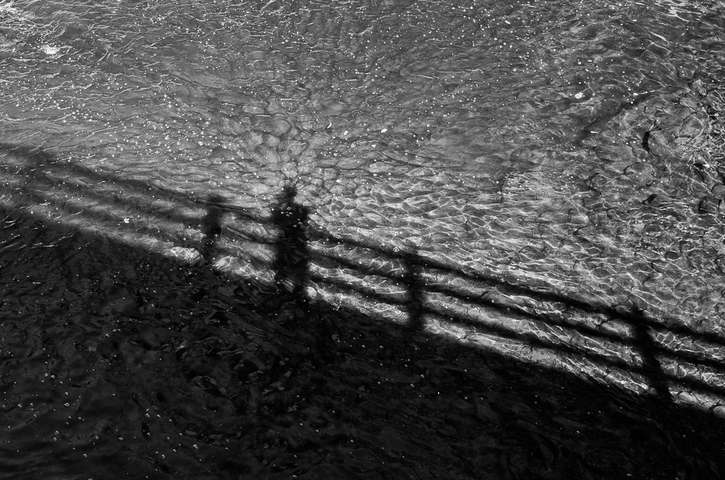 Shadow selfie on Salmon Kill bridge