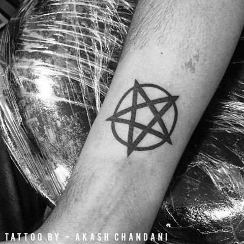 Pentagram Tattoo I Did In Indore Workshop Thanks For Looking