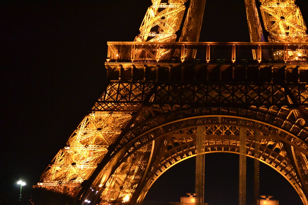 The Eiffel Tower at night: 17
