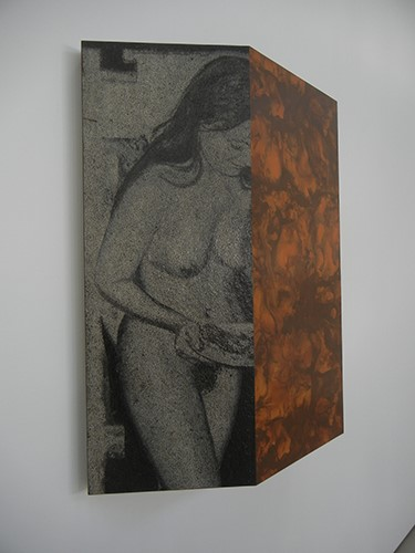 DSCN0368 _ Triptych (With Nude) (Diptych IV), 1966, Richard Artschwager, Broad Museum, LA