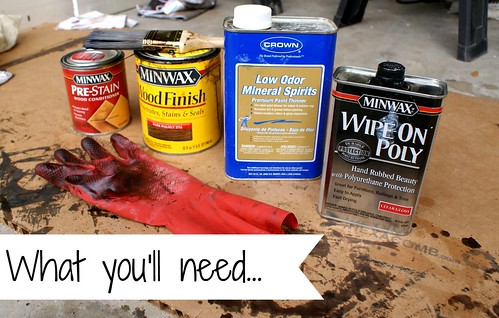 Supplies for Staining