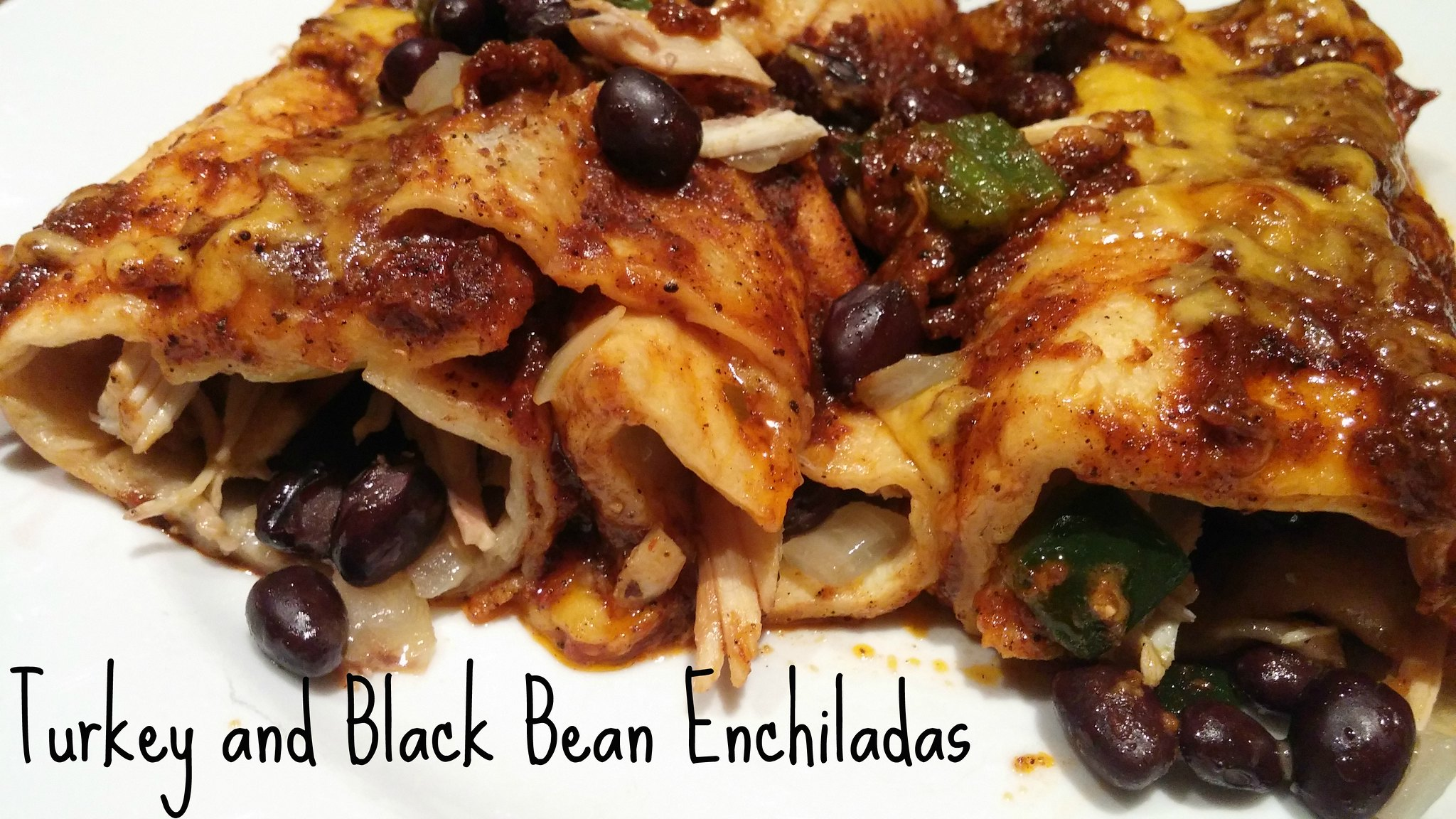 Turkey and Black Bean Enchiladas – Pretending To Adult