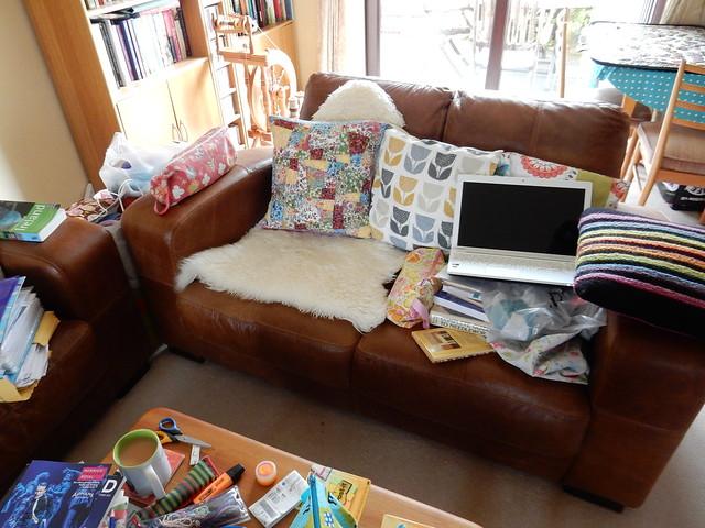 sew saturday Liberty lawn patchwork cushion (7)