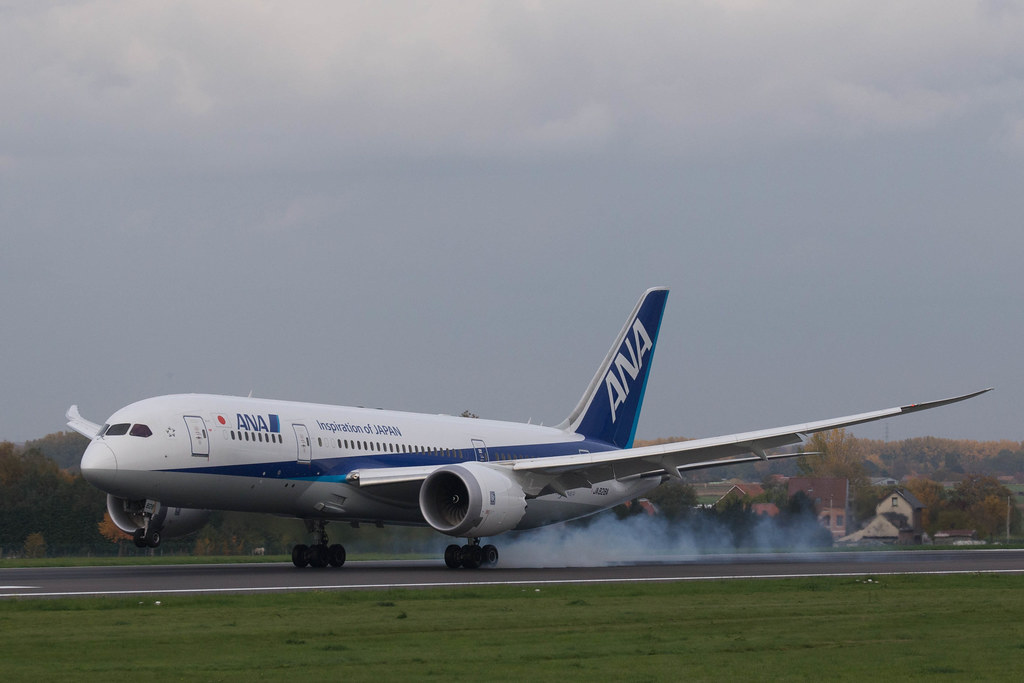 First All NIppon Airways at Brussels Airport