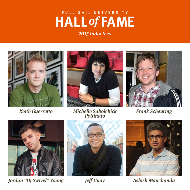 Full Sail University Announces 7th Annual Hall of Fame Induction Class