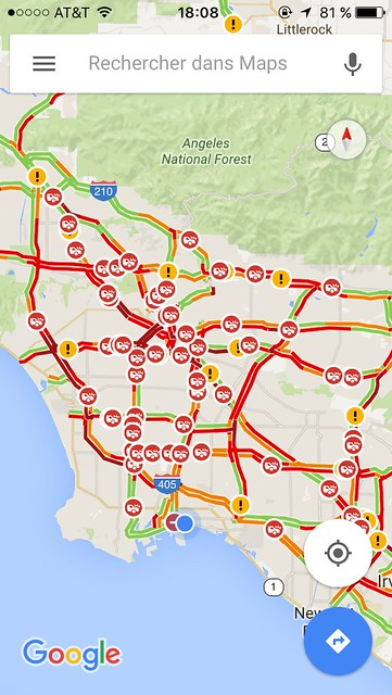 Daily traffic in LA...