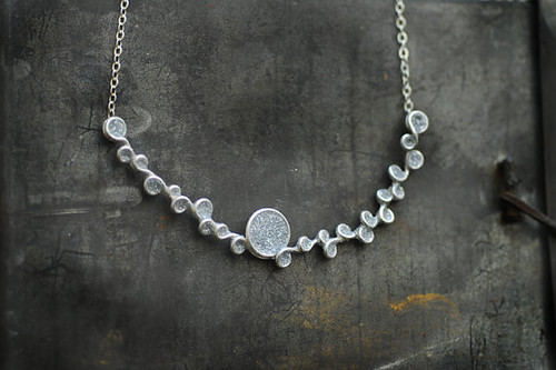 Twilight Sparkle Gray Bubble Snow Necklace