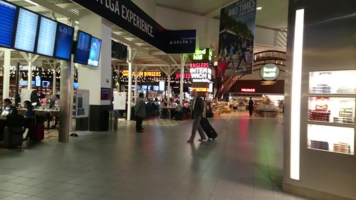 Food court of LaGuardia airport