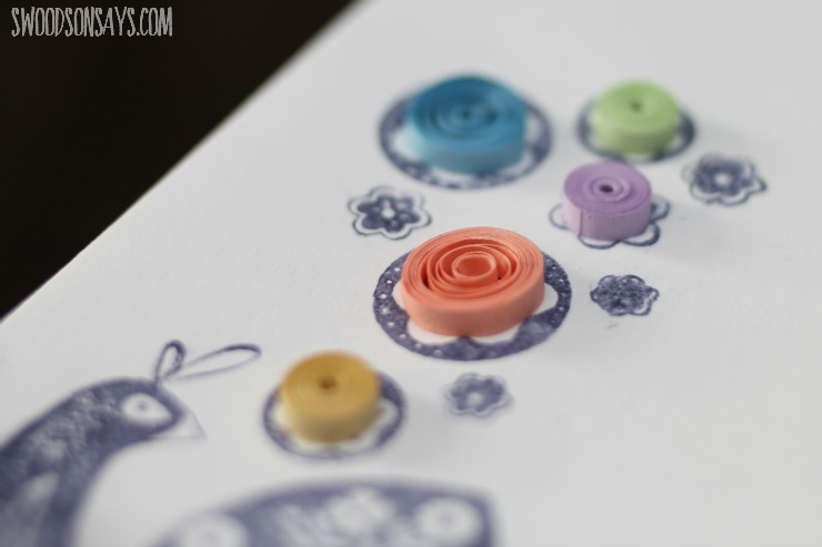 quilling close up