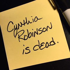 Cynthia Robinson #isdead