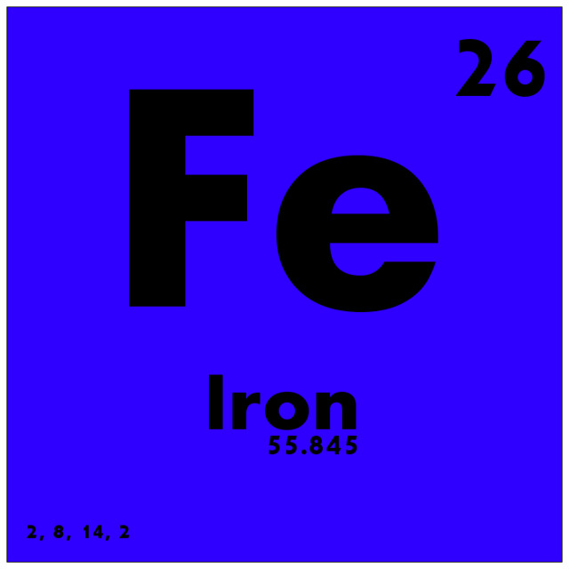 026 Iron - Periodic Table of Elements from Flickr via Wylio