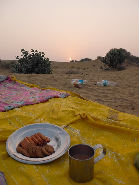Desert Breakfast and Sunrise