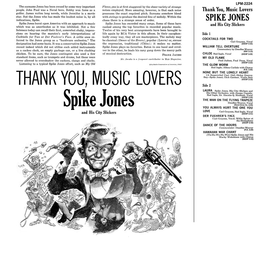 Spike Jones - Thank You, Music Lovers b