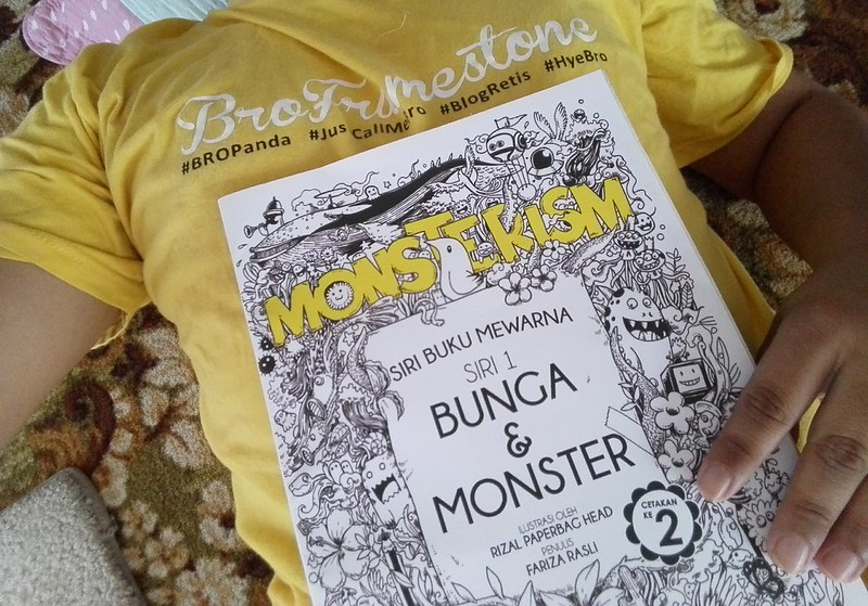 Monsterism Buku Mewarna Bunga & Monster - Rizal Paperbag Head