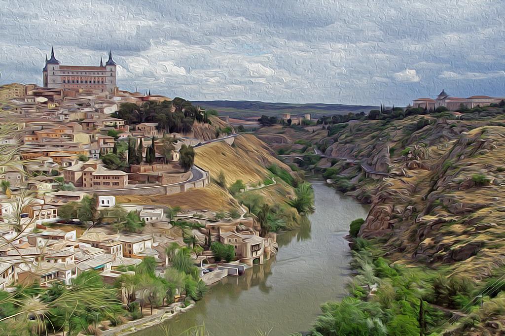 vista parcial de Toledo y el río Tajo