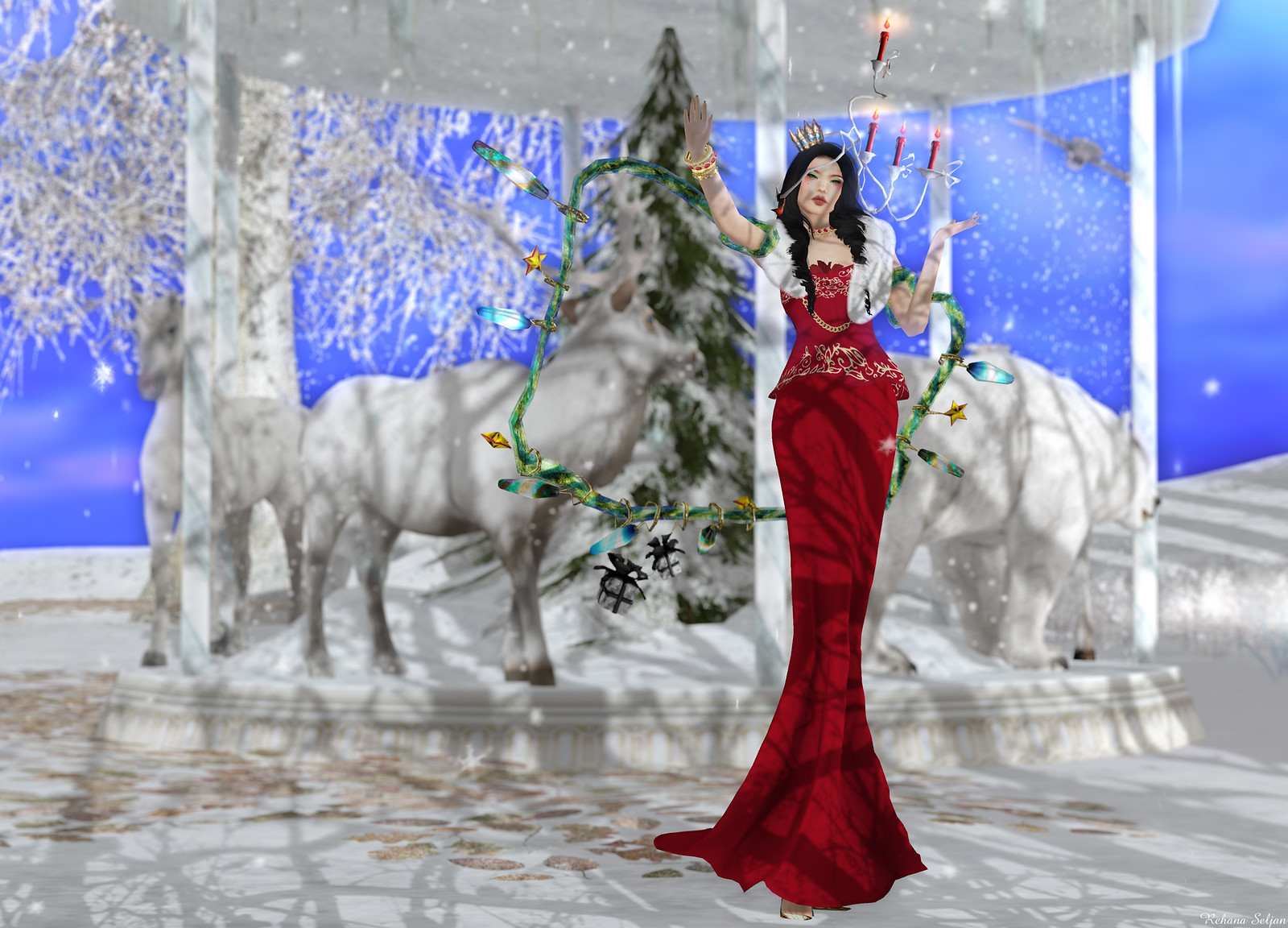 Snowpaws - Lauran Sheeth Gown