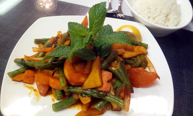Vegetable kebat from Burmese restaurant