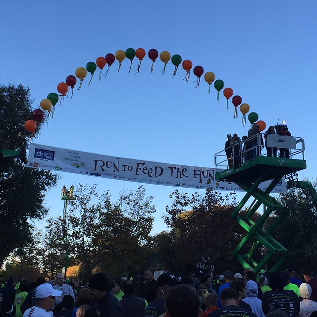 At the start of the 2015 Run to Feed the Hungry