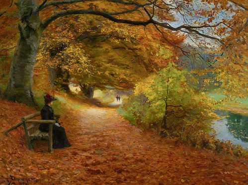 Wooded Path in Autumn - Hans Andersen Brendekilde