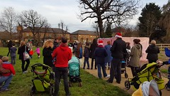 Mountsfield Park carol singing 2015