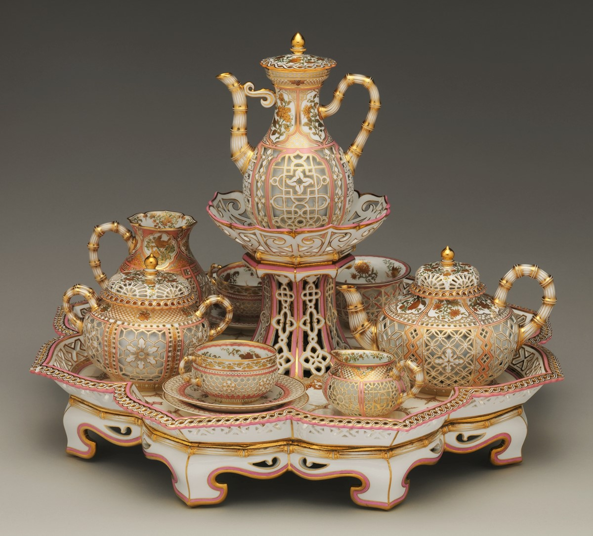 1855 Chinoiserie Coffee and Tea Service. Hard-paste porcelain. metmusem