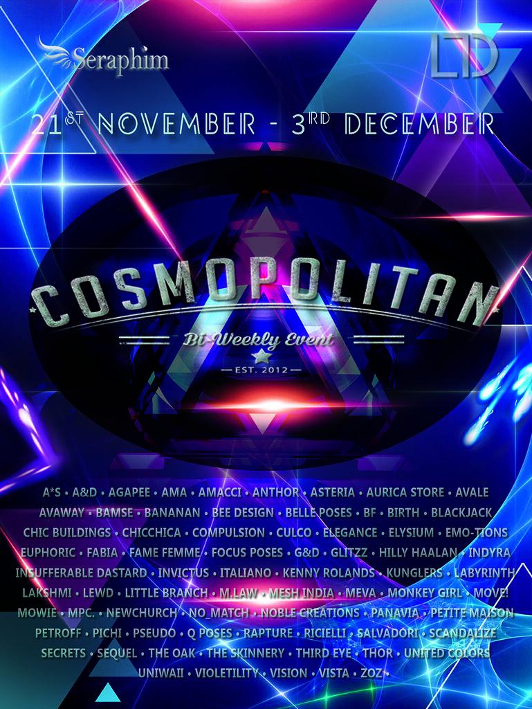 Cosmopolitan {Round 7/5} 21st November - 3rd December - SecondLifeHub.com