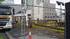 Concrete pour for new Central Library foundations