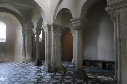 Untergeschoss der Doppelkapelle St. Crucis in Landsberg.
