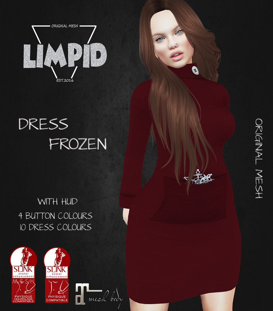 Limpid Dress Frozen [Exclusive for Frozen Fair] - SecondLifeHub.com