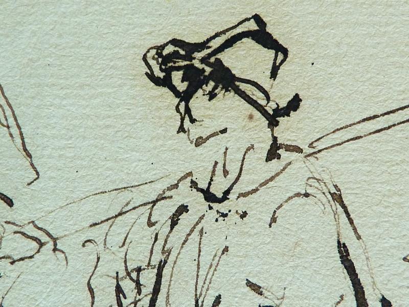 MILLET Jean-François,1850 - Départ pour le Travail, Etude - The Walk to Work  (drawing, dessin, disegno-Louvre RF11191) - Detail 45