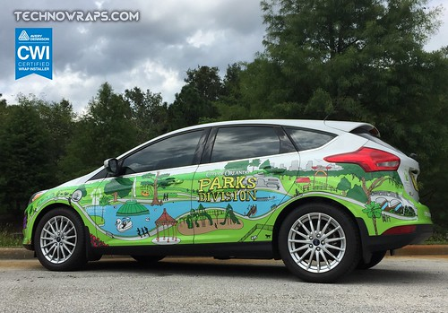 Ford Focus car wrap by TechnoSigns