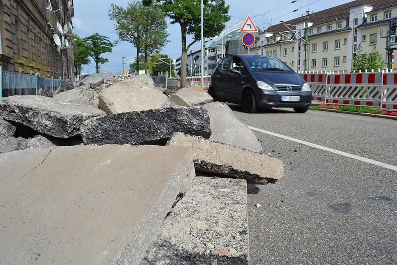 Pforzheim: Bauarbeiten Kelterstr. - 19.08.2015