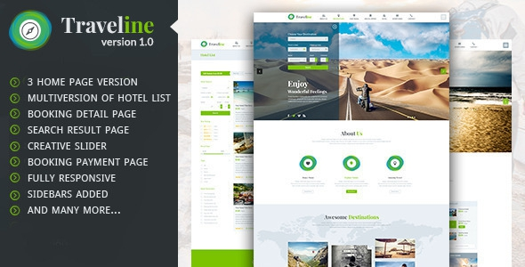 Themeforest Traveline v1.0 - Travel Hotel Booking WordPress Theme