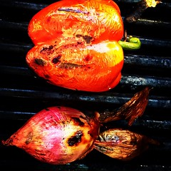 grilled pepper & shallot
