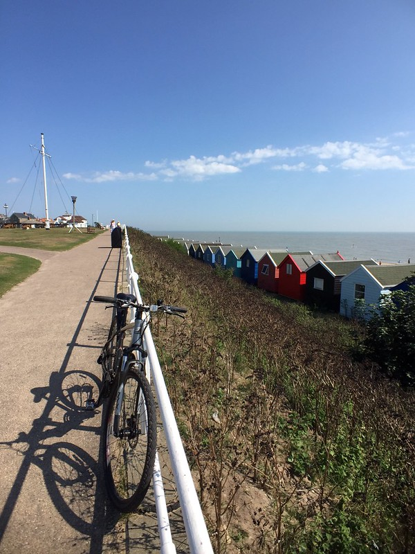 Bikes and beach huts.  Southwold. #makemoments