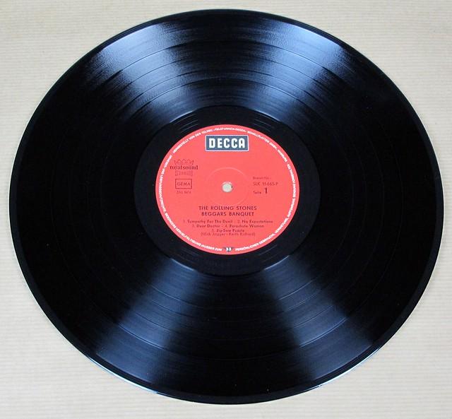 """Rolling Stones Beggars Banquet Germany Foc Red Decca 12"""" Lp Vinyl"""