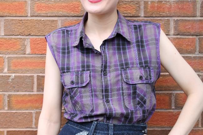 shirt refashion via lovebirds vintage