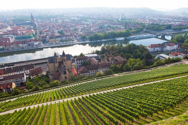Würzburg, Franconia region of Bavaria, Germany. View from Marienberg Fortress.