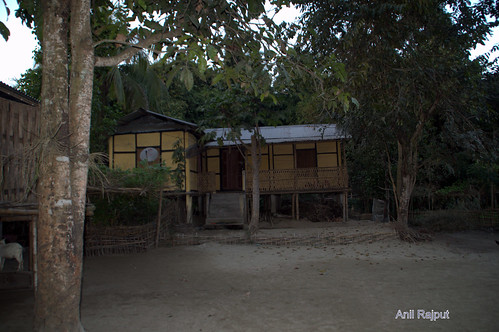 Mishing village home , Majuli Island
