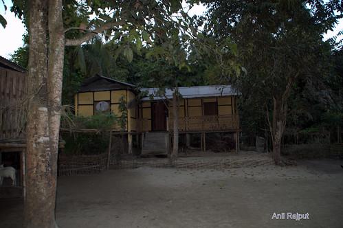 Mishing village home , Majuli Island