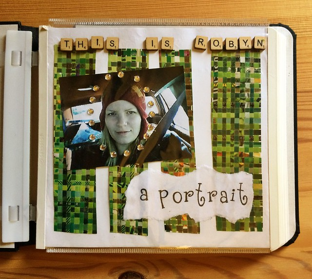 "2005! This ""scrapbook"" was an attempt to bring scrapping together with art journaling."