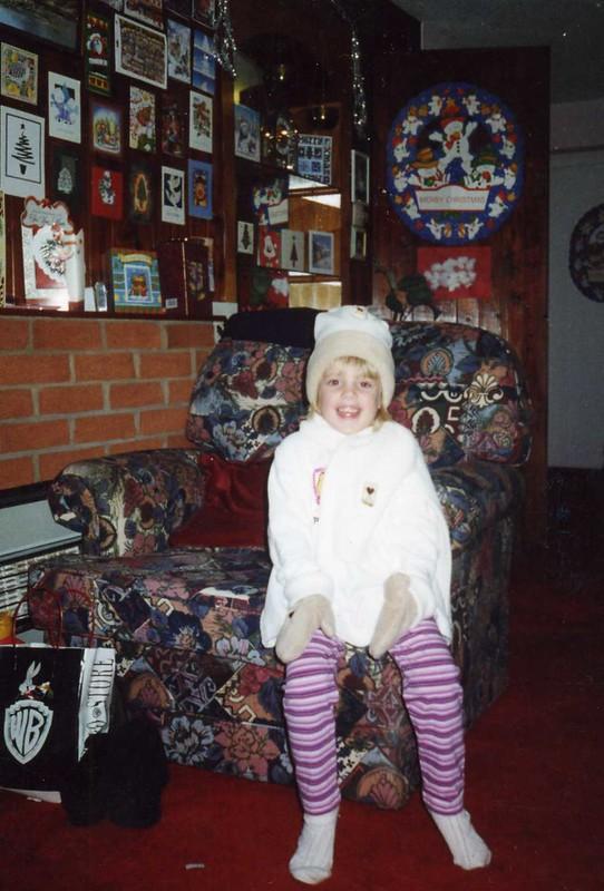 michaela at christmas at nanny's