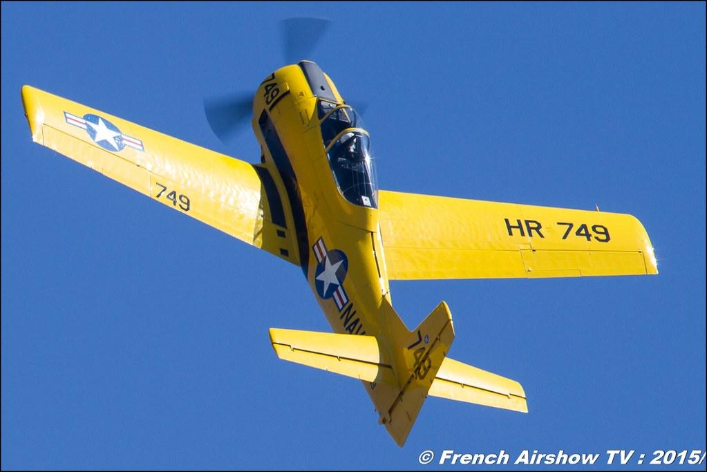 North American T-28A Fennec , T-28 Trojan , Aerofox, F-AZHR, Warbird, WAC 2015 Chateauroux, 28th FAI World Aerobatic Championships Châteauroux 2015 , Championnats du Monde de Voltige Aerienne 2015, Meeting Aerien 2015