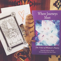 I feel so very honored everytime my words or art finds their way out into this world. Recently one of my poems has been published in this second anthology of poetry by the #JourneyOfTheHeart project, you can find it on Amazon. Also my art found it's way i